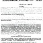 MANIFESTO CONVOCAZIONE DEI COMIZI