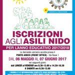 ISCRIZIONI AI SERVIZI EDUCATIVI ALLA PRIMA INFANZIA  PER ANNO EDUCATIVO 2017-2018