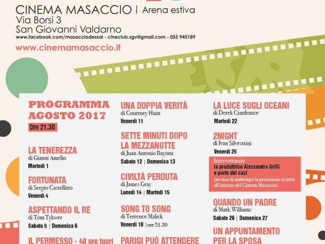 MASACCIO D'ESSAI – PROGRAMMAZIONE AGOSTO 2017