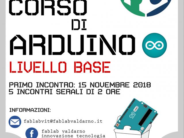 CORSO DI ARDUINO – LIVELLO BASE – DAL 15 NOVEMBRE