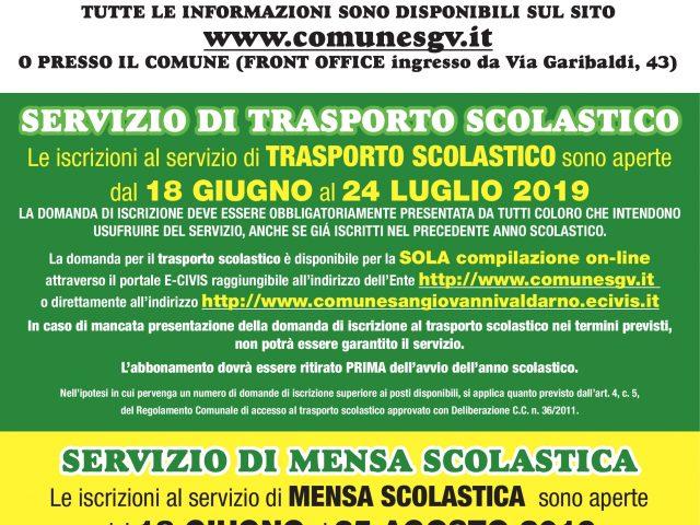 ISCRIZIONE AI SERVIZI SCOLASTICI ANNO SCOLASTICO 2019 – 2020