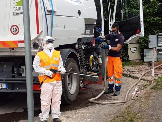 Sanificazione e spazzamento strade a San Giovanni Valdarno; gli interventi effettuati e le future operazioni sul territorio