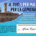 5 per Mille al Comune di San Giovanni Valdarno, un aiuto concreto a supporto della Comunità