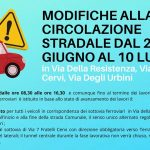 Modifiche alla circolazione stradale in Via Della Resistenza, Via 7 Fratelli Cervi, Via Degli Urbini, per lavori di manutenzione alle strutture dei sottovia ferroviari
