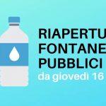 Riapertura fontanelli pubblici da giovedì 16 luglio