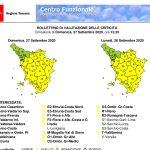 Allerta meteo codice giallo per rischio idrogeologico e idraulico reticolo minore fino alle 12 di oggi