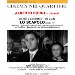 """100 anni di Alberto Sordi, ultimi appuntamenti con il cinema nei quartieri di """"La Nostra Memoria Inquieta"""""""
