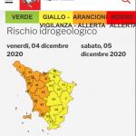 Allerta meteo arancione su intera provincia per le giornate di oggi, venerdì 4 dicembre, e domani, sabato 5 dicembre.