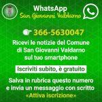 Il Comune di San Giovanni Valdarno informa anche con WhatsAp