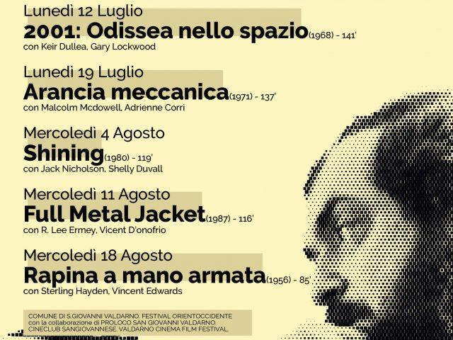 """In occasione della rassegna """"La Nostra Memoria Inquieta"""", San Giovanni Valdarno omaggia Stanley Kubrick, tra musica e cinema"""